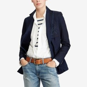 POLO RALPH LAUREN Denim Blazer Jacket {X52}